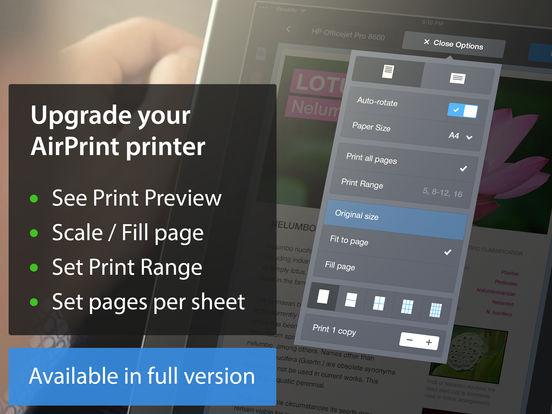 Printer Pro Lite iPad Screenshot 3