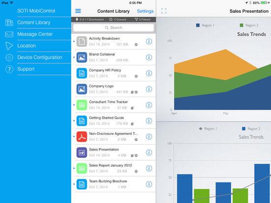 SOTI MobiControl iPad Screenshot 1