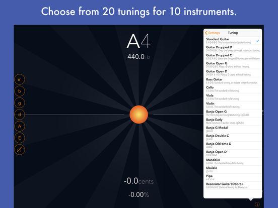 Tuna Pitch chromatic tuner iPad Screenshot 4