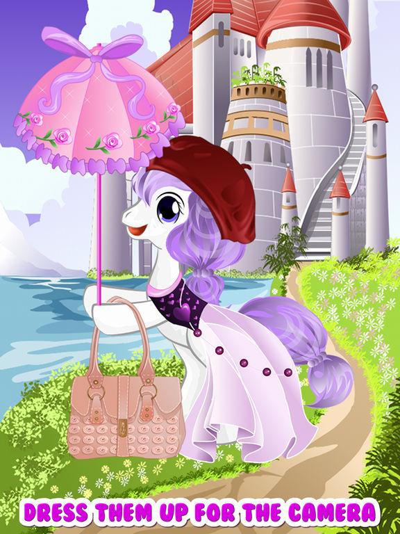 Pony Unicorn Dress Up Salon Maker Games For My Little Baby Girls