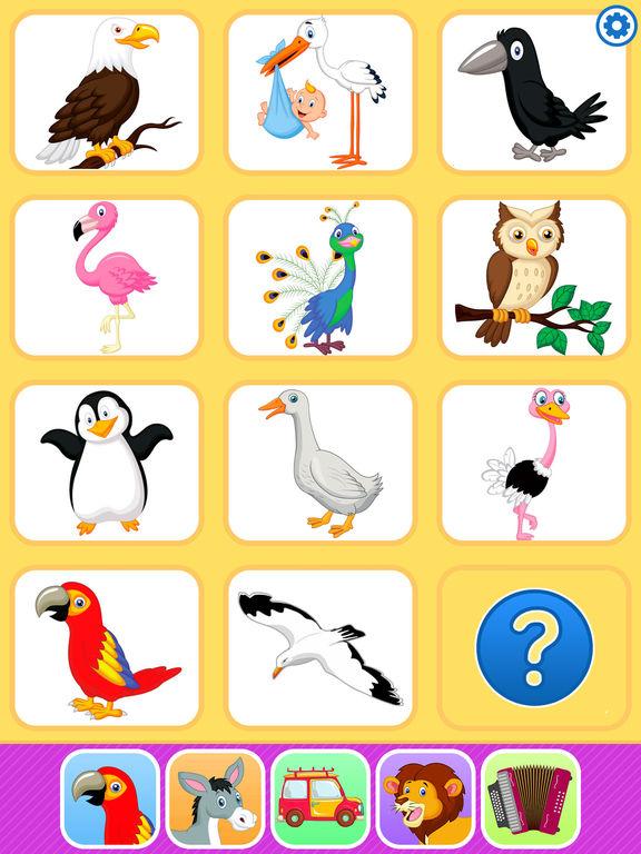 Звуки животных. Развивающие игры для малышей детей