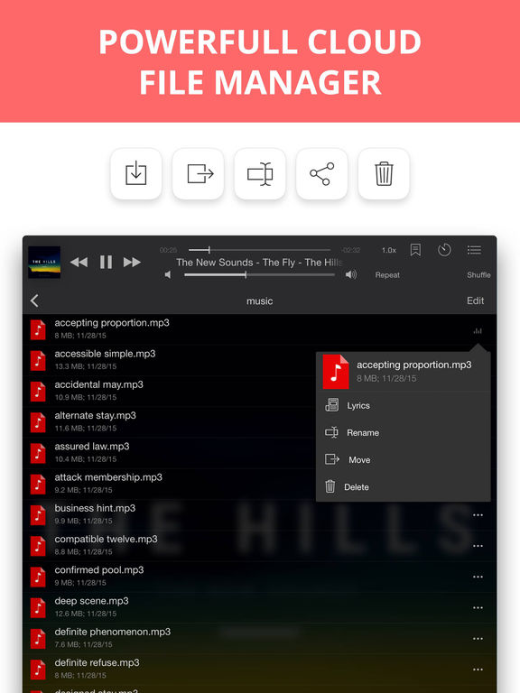Eddy Cloud Music Player  & Streamer Pro Screenshots