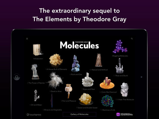 Molecules by Theodore Gray Screenshots