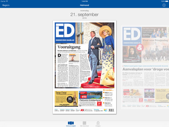 Eindhovens Dagblad Krant iPad Screenshot 1