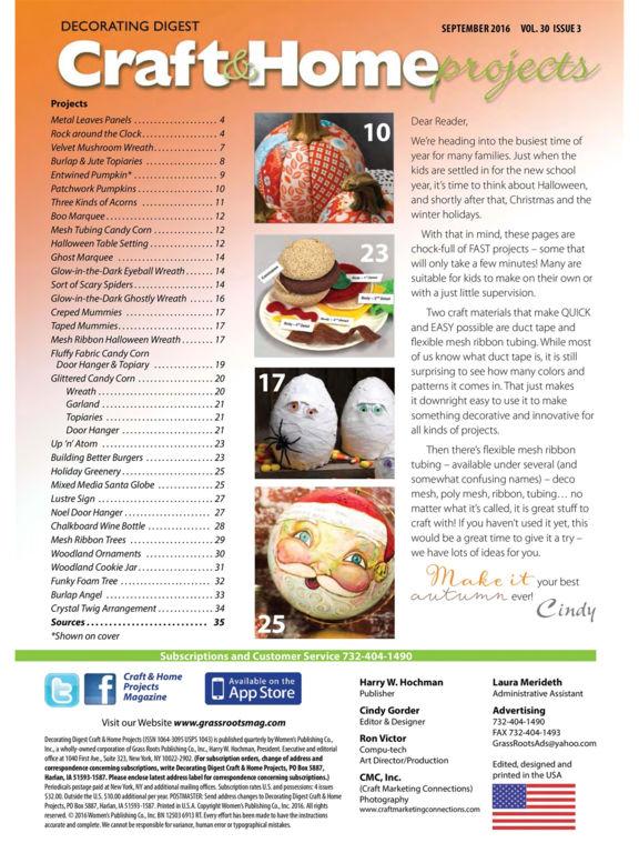 Craft & Home Projects Magazine screenshot