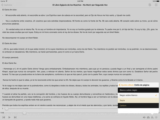 El Libro Egipcio de los Muertos - AudioEbook iPad Screenshot 1