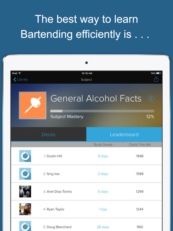 Bartender Flashcards Screenshots