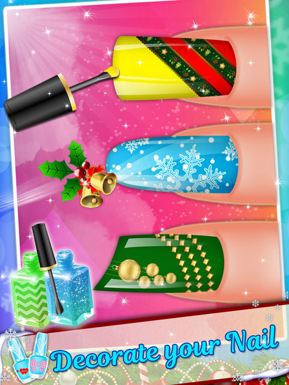 App shopper merry christmas nail salon girls games free for A nail salon game