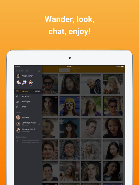 FlirtyMania — free video chat and live broadcast screenshot
