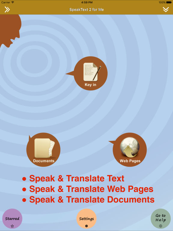 SpeakText 2 - Speak & Translate Web & Doc Screenshots