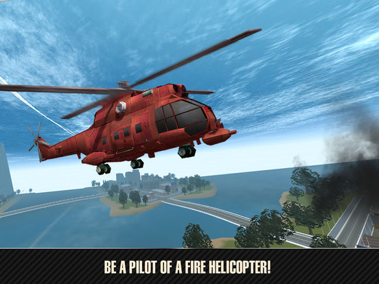 Emergency Fire Helicopter Simulator 3D Full Screenshots