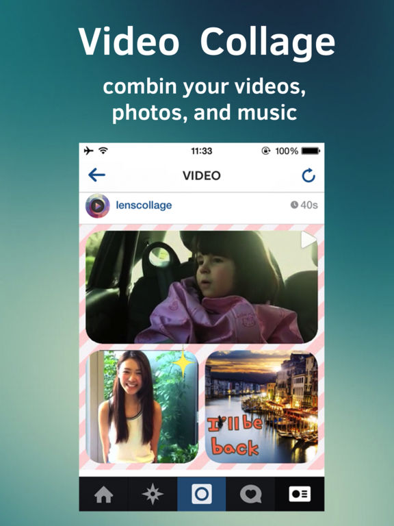 Video Stitch Pro -Collage Movie & Pic Together Screenshots