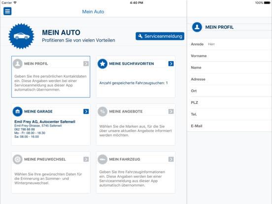 Emil Frey iPad Screenshot 5