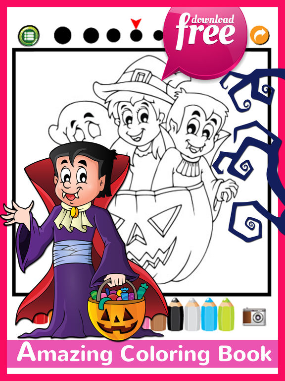 App Shopper Halloween Coloring Book Free For Kids And Toddlers Games