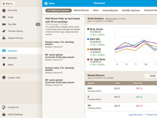 Merrill Edge for iPad iPad Screenshot 3