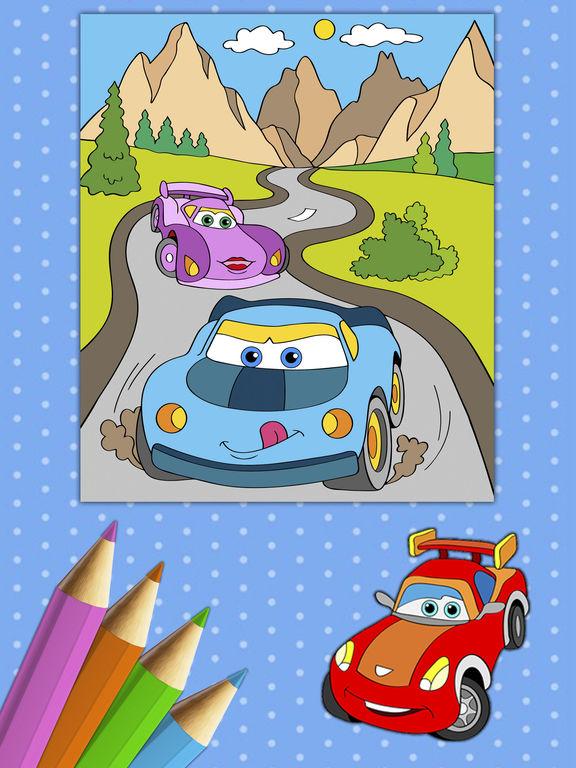 Автомобили Книжка-раскраска - краски Autos Скриншоты8