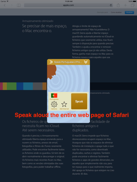 SpeakPortuguese 2 (10 Portuguese TTS) Screenshots