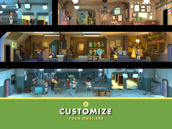 Screenshots of Fallout Shelter for iPad
