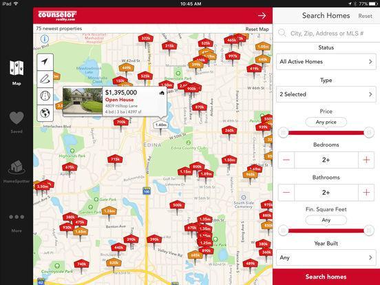 Counselor Realty - Home Search Minnesota Real Estate iPad Screenshot 1