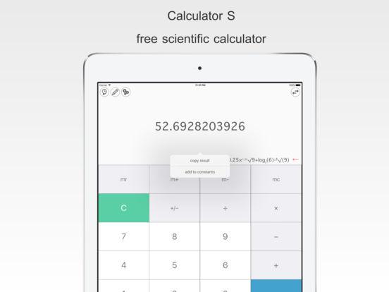 Калькулятор S - бесплатный инженерный калькулятор Скриншоты7