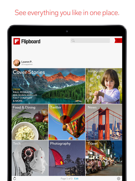 Flipboard: Your Social News Magazine screenshot