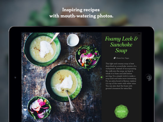 Green Kitchen – healthy vegetarian recipes screenshot