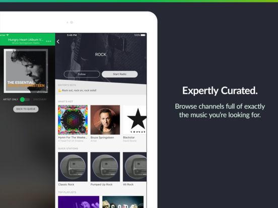 Screenshots of Saavn Music & Radio for iPad