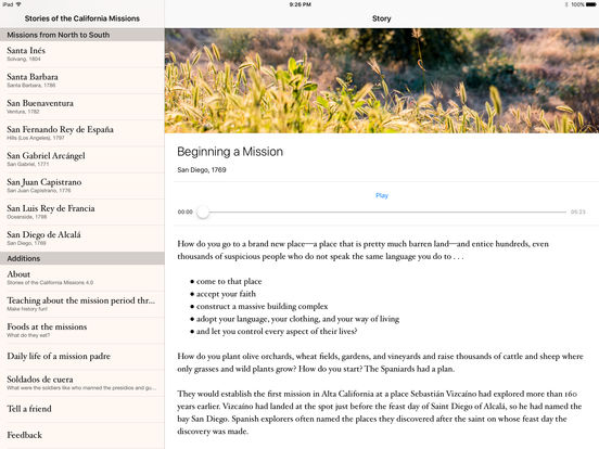 Stories of the California Missions iPad Screenshot 3