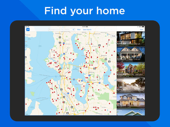 Screenshots of Zillow Real Estate - Homes for Sale & for Rent for iPad
