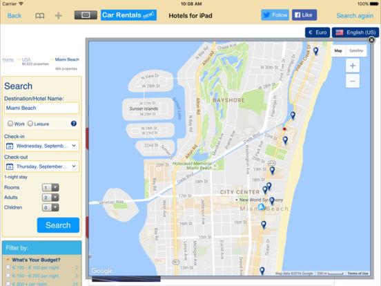 Hotels for iPad iPad Screenshot 3