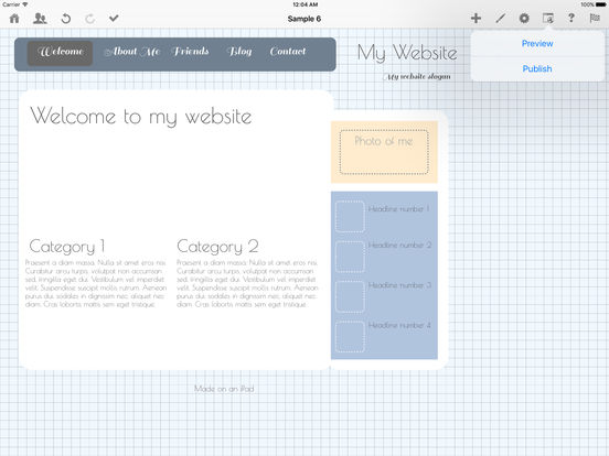 Web Page Creator for iOS - HTML Egg screenshot