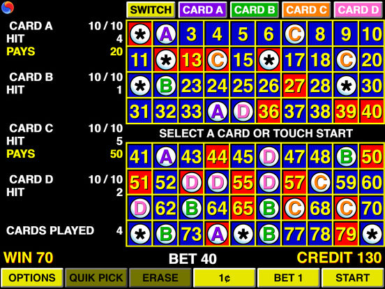Keno 4 Multi Card - Las Vegas Casino iPad Screenshot 3