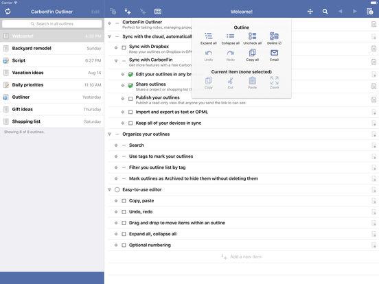 Outliner iPad Screenshot 4