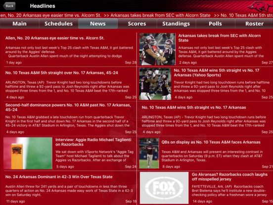 Arkansas Razorbacks College SuperFans iPad Screenshot 2