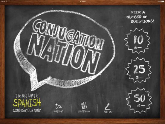 Conjugation Nation Spanish iPad Screenshot 1