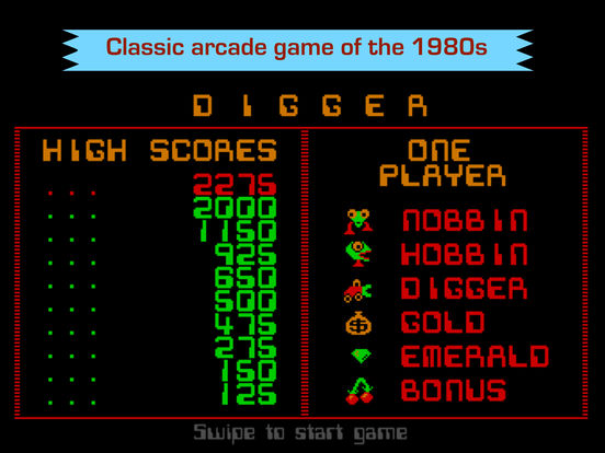 Digger - Classic retro arcade game Screenshots