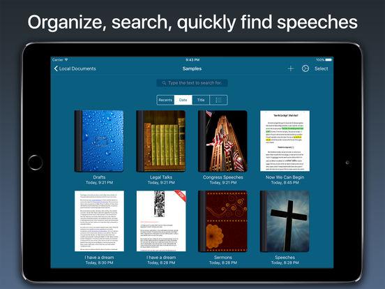 Speech Writer - Sermons, Discourses & Speakings Screenshots
