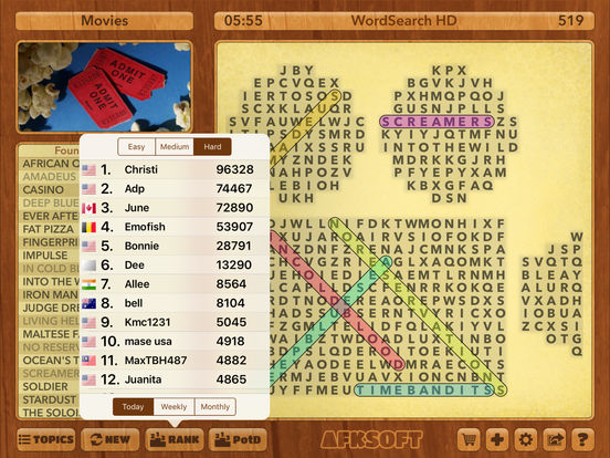 WordSearch HD Free iPad Screenshot 4