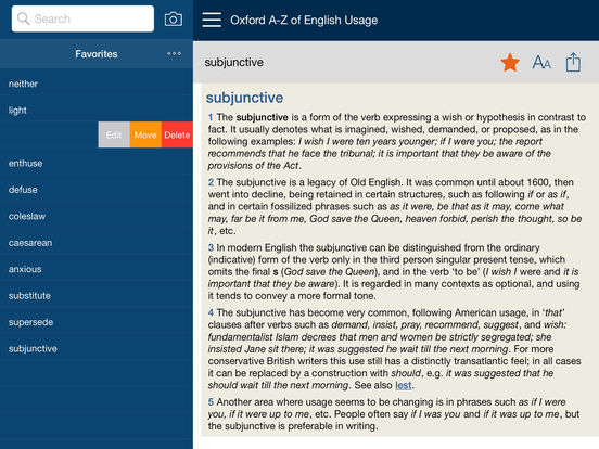 Oxford A-Z of English Usage 1st edition iPad Screenshot 2