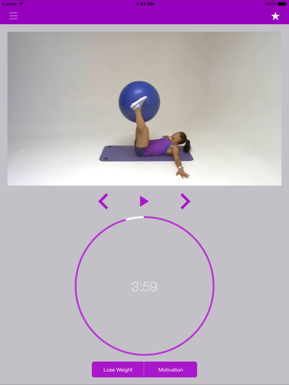 Swiss Ball Exercises Stability Fit Workout Program Screenshots
