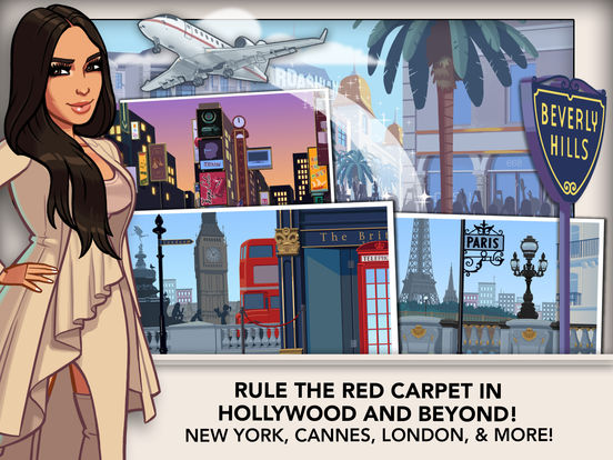Screenshots of Kim Kardashian: Hollywood for iPad