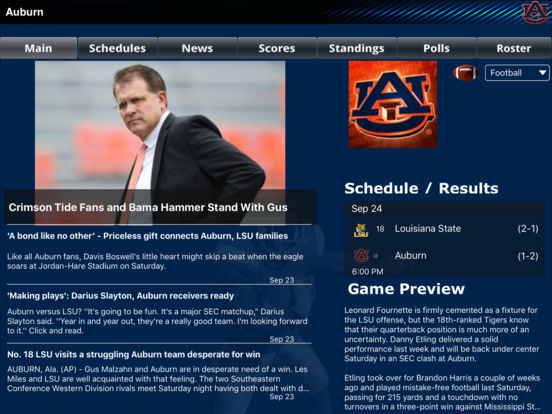 Auburn Tigers College SuperFans iPad Screenshot 1