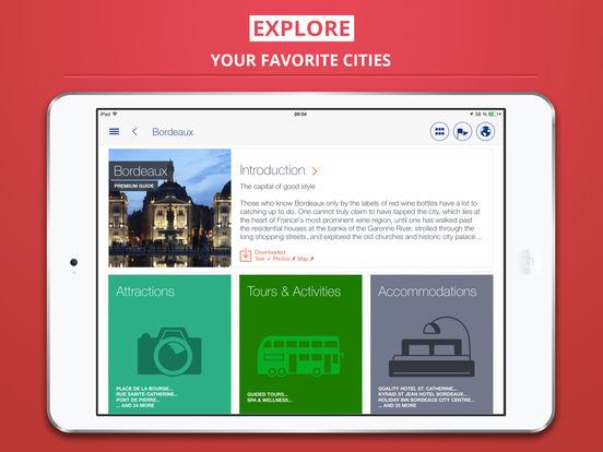 Bordeaux Guide de Voyage iPad Screenshot 1