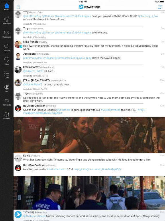 Tweetings for Twitter (iPad edition) Screenshots