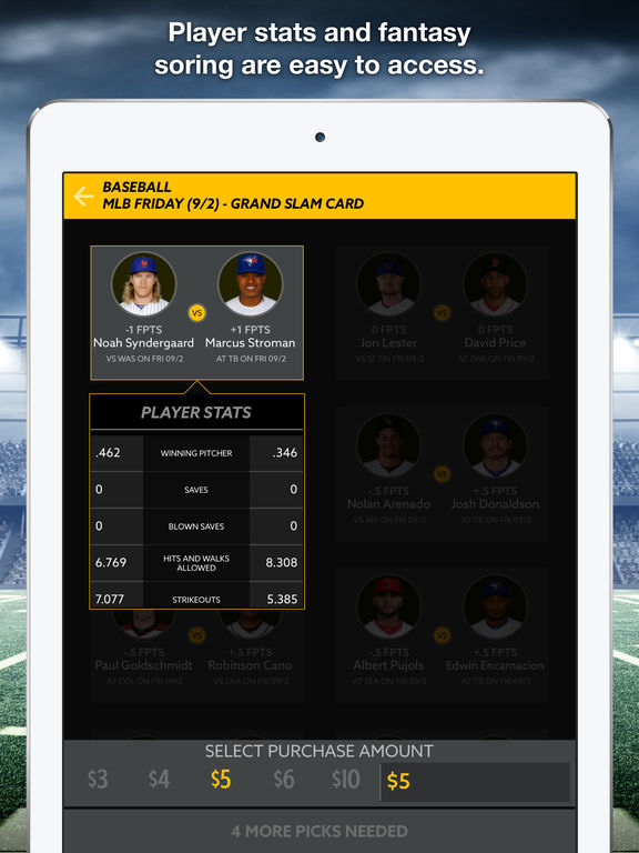 HotRoster Fantasy Sports screenshot