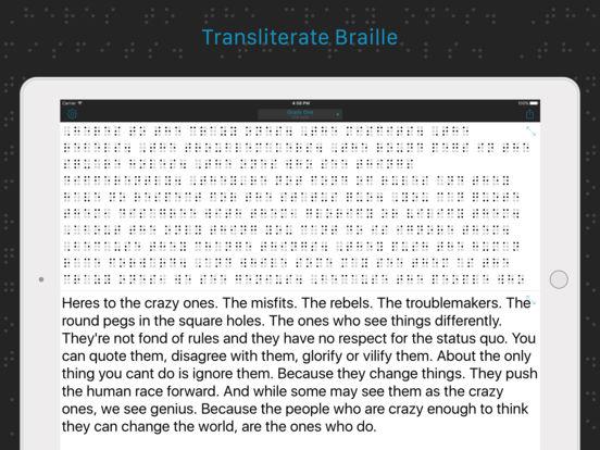 Braille Writer iPad Screenshot 1