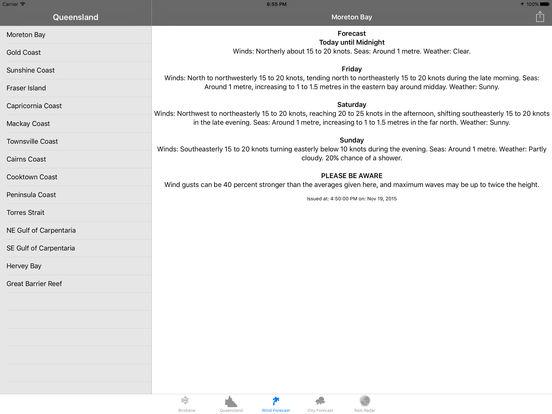 BrisWinds iPad Screenshot 3