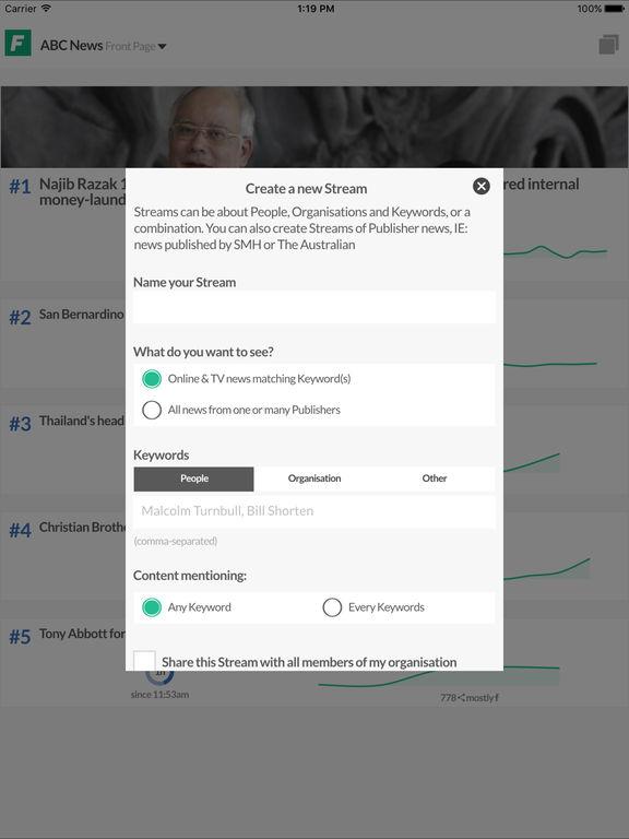 Flow (News Intelligence for Journalists) screenshot