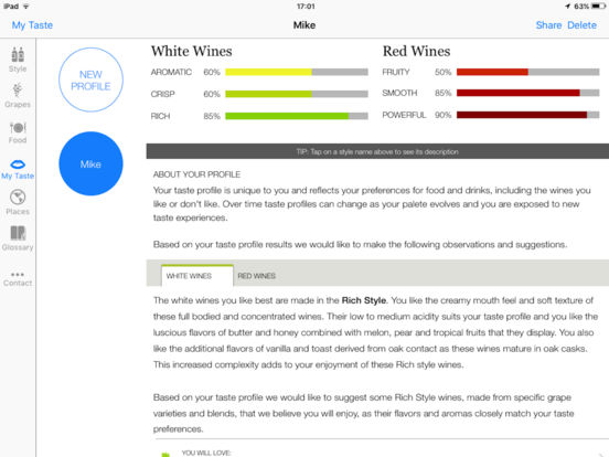 Taste Profile - Discover Your Taste Profile And Wines You Will Love screenshot