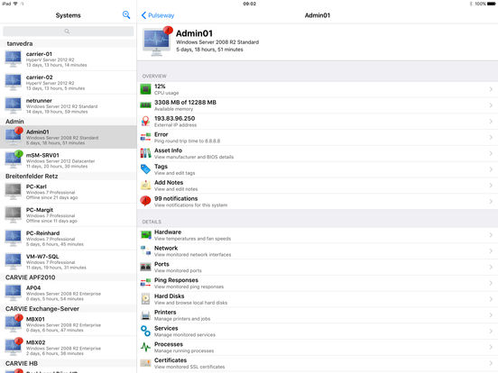 PC Monitor iPad Screenshot 1
